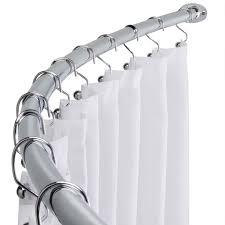 bathroom curved shower rod ebay fixed curtain best 25 rods ideas