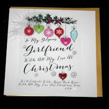 handmade gorgeous girlfriend christmas card large luxurious