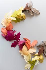 fall garland diy paper leaf fall garland the house that lars built