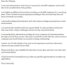 forklift engineer cover letter example learnist org