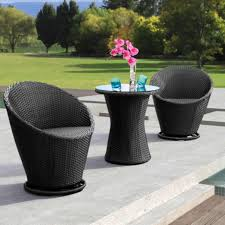 Modern Bistro Chairs Zuo Modern Cabo 2 Person Patio Bistro Set With Glass Top Table