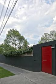 villa great exterior calero house with grey wall design and red