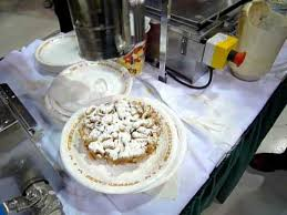 making funnel cake using gold medal funnel cake fryer youtube