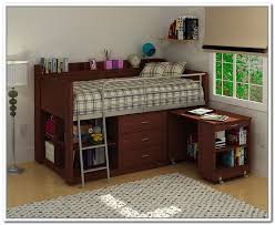 Desk With Bed by Loft Bed Storage Home Design Styles