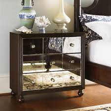 wood and mirrored nightstand furniture grey wood nightstand