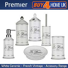 le bain ceramic white bathroom accessories freestanding vintage le bain ceramic white bathroom accessories freestanding vintage storage set ebay