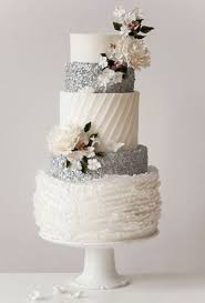 silver wedding cakes wintry white and silver wedding cake brides
