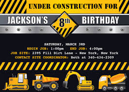 construction party invitation buscar con google baby shower
