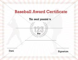 best photos of baseball stat certificate template free printable