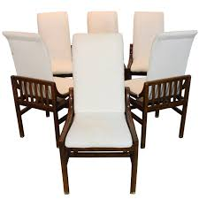 Henredon Dining Room Table by Set Of Six Henredon Dining Chairs In Walnut At 1stdibs