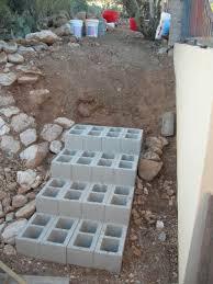 cinder block building plans decor steps exciting outdoor walkway design cinder block steps