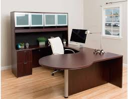 curved series p desk mahogany bay area office furniture