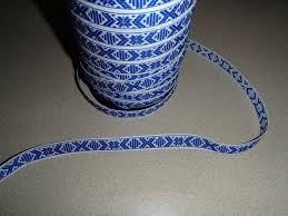 ribbon trim swedish cotton ribbon trim blue white 1068 19 2 00 zen