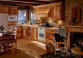 rustic kitchen decorating design using solid rustic pine wood