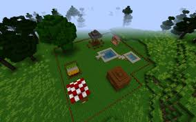 little nice back yard minecraft project