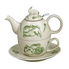 bunny tea set andrea by sadek bunny toile 3 porcelain china tea set