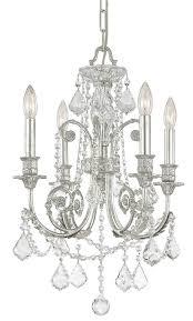 The Crystal Chandelier Crystal Beach Cone Shape 4 Light Matte Silver Crystal Chandelier And Chandeliers