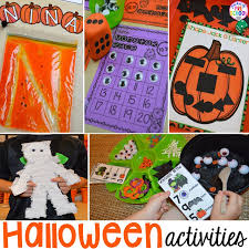 halloween activities and centers for preschool pre k and