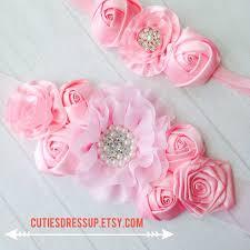 Flower Belts - pregnancy sash with matching headband meternaty sash belt