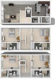 Townhome Floor Plan by Arlington Lsu Off Campus 4 Bedroom Student Townhome Apartments For