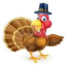 a santa hat thanksgiving or turkey holding