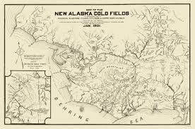 Alaska City Map by Old Mining Map Gold Fields Alaska 1901