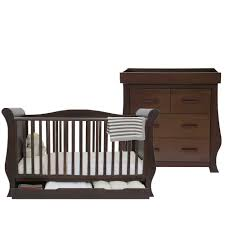 Sleigh Cot Bed Babystyle Hollie Sleigh Cot Bed Dresser Walnut Cot Beds