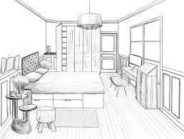 dessin chambre dessin chambre en perspective dessin chambre en perspective avec