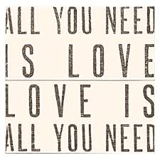 sugarboo designs all you need is love antique sign