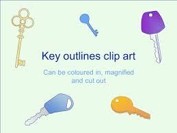 printable map key key outline clip art