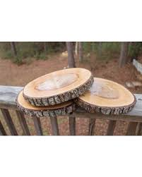 wood centerpieces don t miss this bargain 11 wood slice treated wood slice wood