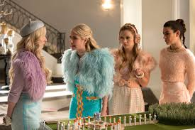 halloween fashion background images scream queens u0027 halloween photos why is chanel dressed as jackie o
