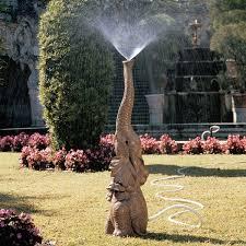 water spouting safari sculptures elephant garden sprinkler