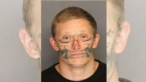 escapee with skull tattooed face back in custody nbc 2 com wbbh
