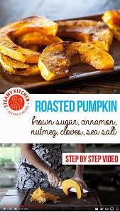 A Chef Slicing A Pumpkin by Roasted Pumpkin Recipe Easiest Way To Roast Pumpkin