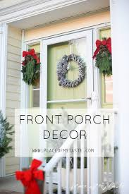 Christmas Decoration For Front Of House by Christmas Door And Porch Decoration For The Holidays