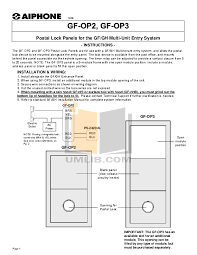 pdf manual for aiphone other gf 1mdk intercoms