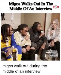 Migos Meme - migos walks out in the middle of an interview t r migos walk out