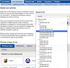 Used Car Price Estimation by The Parkers Car Guide Wewantanycar Com
