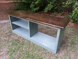 rustic modern boot bench built from solid wood
