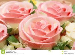 flower cream on top of beatiful cake stock photo image 23863842