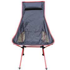 Portable Armchair Red Traveling Light Line Folding Chair Armchair Outdoor Leisure