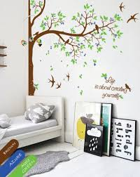 Tree Wall Decor For Nursery Personalized Corner Tree Wall Decal Decor Nursery Mural Sticker