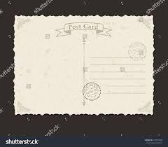 grunge postcard postage stamp design envelopes stock vector