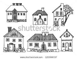 houses drawings house drawing stock images royalty free images vectors
