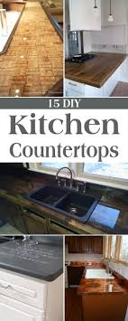 kitchen countertop ideas on a budget 15 amazing diy kitchen countertop ideas countertops budgeting