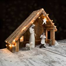 slant roof nativity creche stable with slant roof reclaimed barn wood for