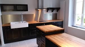 cuisine bistro superbe meuble de cuisine blanc laque type bistro ikea types