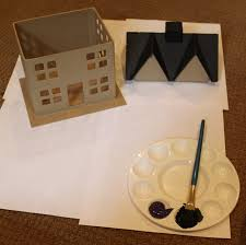 how to make a simple and easy haunted house for halloween