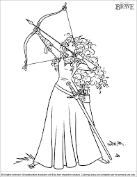 Coloring Pages Brave Murderthestout Disney Brave Coloring Pages